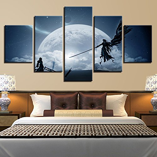 5 Piece Canvas Final Fantasy Wall Art  